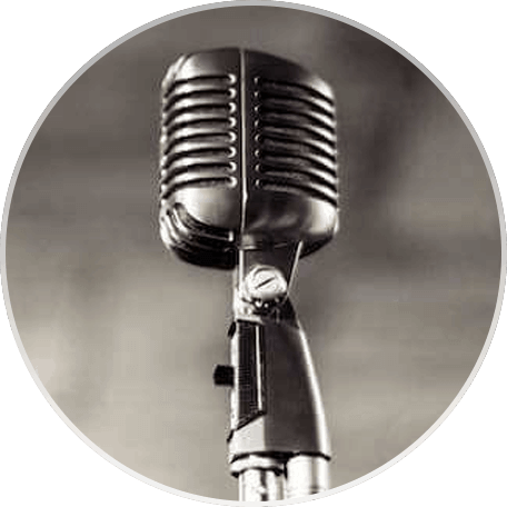A Vintage Wedding Microphone