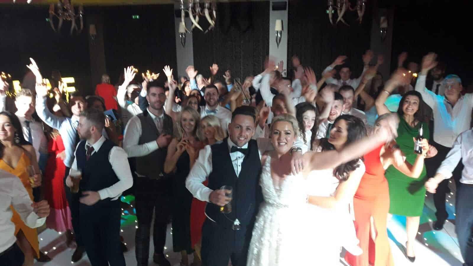 wedding couple enjoying wedding bands in Ireland